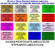 COLOURED Personalised Address Labels  / Sender Security/ Craft  Return  Stickers