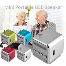 Portable Micro SD TF USB Mini Stereo Speaker Music Player PC MP3 /4 FM Radio WP