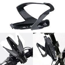 Outdoor Cycling Bicycle Carbon Fiber Water Bottle Drinks Holder Cages Rack Hot W