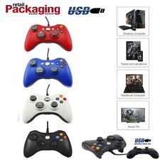 New Wired USB Game Pad Controller For Microsoft Xbox 360 Slim E/ PC Windows BP