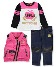 """Apple Bottoms Baby Girls' """"Luxe Panel"""" 3-Piece Outfit"""