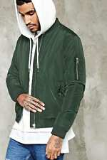 NWT Men's Padded Woven Bomber Jacket With a Zippered Front