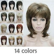 14 Colors Daily Excellent Short Women Ladies Natural Daily Wig + Free Wig Cap