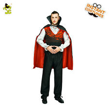 Vampire Men Costume  Adult Dracula Halloween Fancy Cosplay Outfit For Carnival