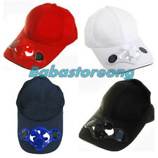 Sporting Solar Wind Power Hat Cap Cooling Cool Fan F Golf Outdoor Hiking Y6