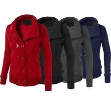 Winter Women Warm Double Breasted Hooded Long Slim Jacket Coat Outwear Overcoat