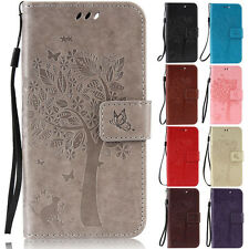 Cat Tree Wallet Leather Flip Case Cover Stand For Sony Xperia Z3 Z5 M4 M5 C5 C6