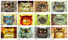 12 Different Cat Portrets ACEO LE Prints of Original Paintings by Sergej Hahonin