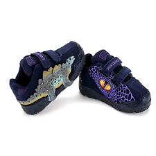 Dinosoles 3D Stegosaurus Low Top Boy Dinosaur's Fashion Footwear Shoe Navy