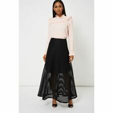 Black Jeunesse Honeycomb-Mesh Maxi Skirt