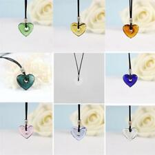 Heart Glass Pendant Necklace Perfume Essential Oil Diffuser Handmade Gifts