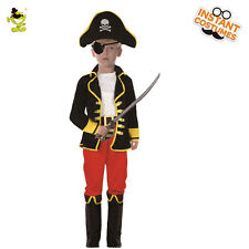 Hot Kids Pirate Costumes Boys Movie Character Cosplay Outfit with Eye-patch