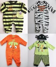 Halloween baby outfit sleepsuit NB 0 3 6 9 months various styles spider pumpkin