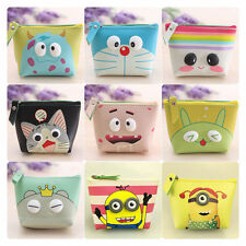 Beautiful Women Girl PU Coin Purse Portable Mini Wallet Purse Zip Coin Money Bag