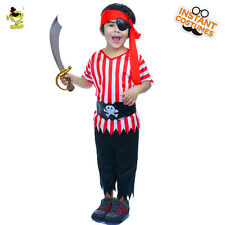 Boy Pirate costumes Kids Halloween Party Vinking Cosplay Clothing with eye-patch