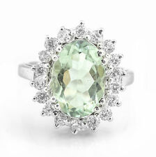 925 Sterling Silver Ring with Natural Green Amethyst Gemstone Handcrafted eBay.