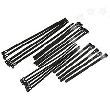 100Pcs Various Sizes Wire Strong Ties Black Wrap Nylon Zip Cable Tidy Organizer
