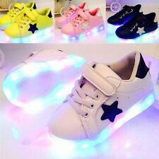 Fashion LED Kids Boys Girls Shoes Light Up Children Trainers Sport Sneakers SPY