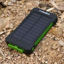 10000mAh Solar Charger Portable Power Bank Outdoors Emergency External Battery