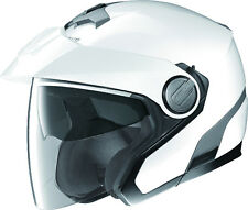 Nolan White N40 Open Face Motorcycle Helmet with Integrated Sunshield 2XS-2XL