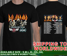 Hot!! Def-Leppard-Tesla-Speed-Wagon-2016-Summer-Tour Black T-shirt
