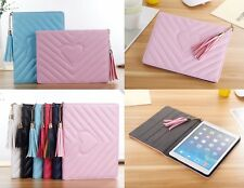 Folio Heart-shaped Love LEATHER Stand Smart Auto Sleep Case Cover For Apple iPad