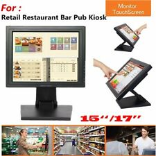 """15""""/17'' inch Touchscreen LCD VGA POS Touch Screen Monitor Stand Retail Kiosk BP"""