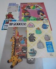 Patons C18,C37,C41, 491 Bazaar Time, Knitting Toy Crafts - Select a Booklet