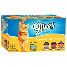 9 Lives Favorites Variety Pack Canned Cat Food  hearty cuts