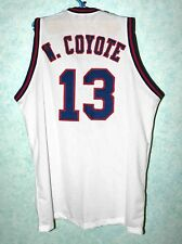 WILE E. COYOTE #13 TUNE SQUAD SPACE JAM Looney MOVIE Sewn Stitched JERSEY White