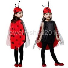 Kids Girls Costume Ladybug Cosplay Ladybird Carnival Party Fancy Dress Outfit