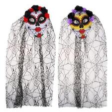 Ghost Zombie Costume Corpse Bride Mask Halloween Day Of The Dead Fancy Dress Up