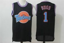 Bugs Bunny #1 Space Jam Looney Tune Squad Basketball Jersey Black Size S-2XL