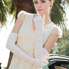Nappaglo Women's UV Protection Sun Block Bridal fingerless Opera Driving Gloves