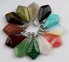wholesale Mixed material carved arrow 25x15x6mm pendant bead