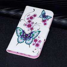 Peach ButterflyFlip Wallet Card Stand Leather Case Cover For Various Model Phone