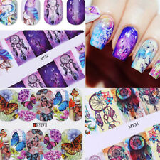 Water Decals Big Sheet Nail Art Transfer Stickers Manicure Decorations Stickers