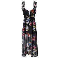 Summer Lady Women Fashion Floral Printing Backless Gallus Skirt Dress