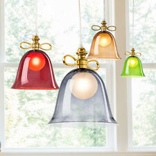 Modern Chandelier Glass Bowknot Pendant Light Lampshade Ceiling Hanging Fixtures