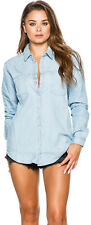 New Swell Women's Classic Chambray Shirt Chambray Denim