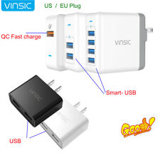 Vinsic Rapid US/EU Portable Home Travel Wall Charger QC 3.0 Quick Charge Adapter