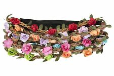 Flower Headband Festival Wedding Bridal Floral Hair Garland Mixed Colours