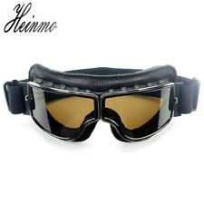 NEW Motorcycle Goggles Scooter Goggle Glasses Aviator Pilot Cruiser WWII Vintage