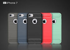 Soft Shockproof Carbon Fiber Pattern TPU Case Cover for Apple iPhone 6/6+/7/7+