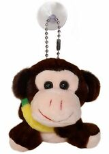 Happy Monkey Plush Stuffed Animal Keychain, Hanging Toy Doll Charm Tag Keyring