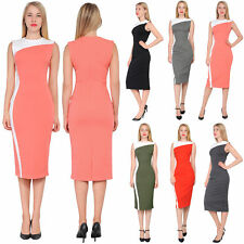 MARYCRAFTS WOMEN'S COLORBLOCK SHEATH MIDI DRESS COCKTAIL PARTY OFFICE DRESSES
