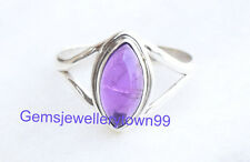 925 Sterling Silver Ring Blue Amethyst Ring stone Ring Size 5 6 7 8 9 10 11 R1AM