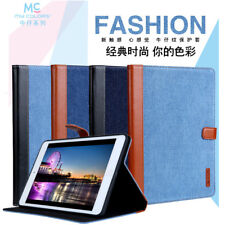 Denim Jean Cloth Leather Smart Stand Case Cover Book For iPad 2 3 4 5 6/Air/Mini