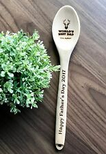 Father's Day Gifts - Personalized Engraved Wooden Spoon / Wooden Spatula / Fork