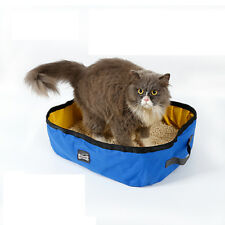 Portable Cat Litter Box Toilet Seat Tray Potty Easy to Clean Free Travel